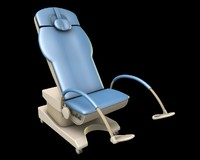 3d model gynecology chair