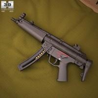3d heckler koch mp5 model