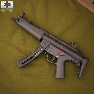 3d heckler koch mp5 model