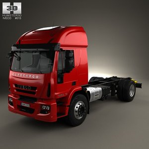 iveco eurocargo chassis 3d model
