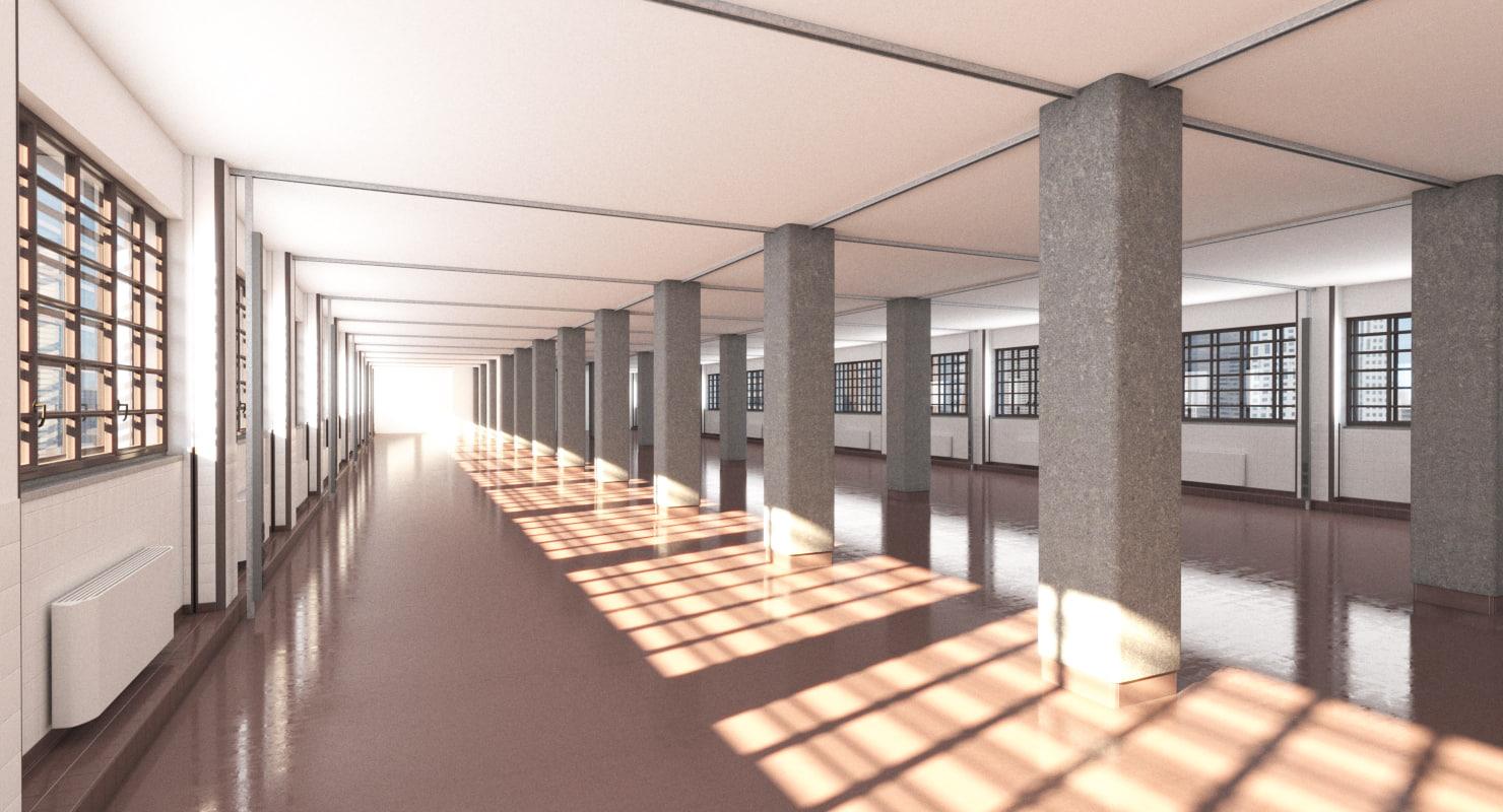 warehouse realistic 3d model