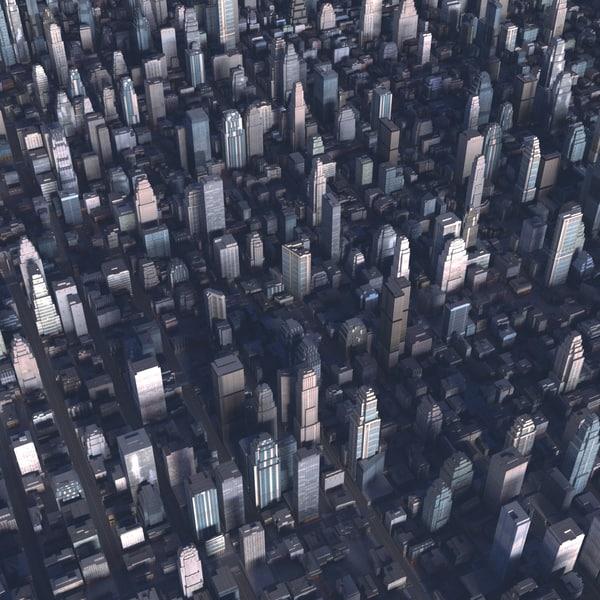 3d max cityscape scene highrise