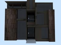 house modern c4d