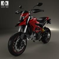 3d model ducati hypermotard 2013