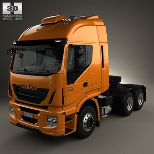 iveco stralis tractor 3d max