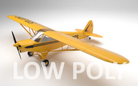Piper PA-18 Supercub Low Poly