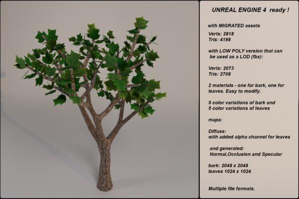 3d model fantasy tree 09