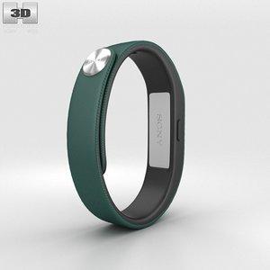 3d model sony smart band