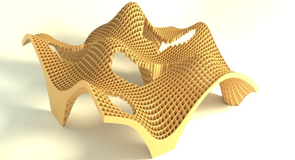 3d plywood structure street