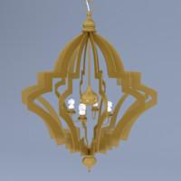 chandelier lamps obj