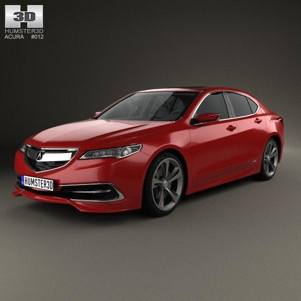 3d Model Acura Tlx Concept