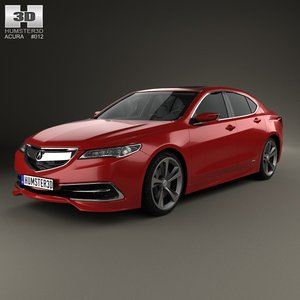 3d model acura tlx concept