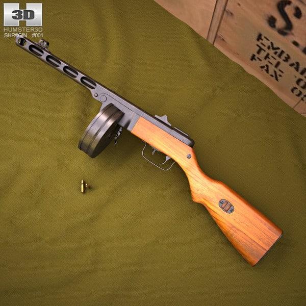 41 ppsh ppsh-41 3d model