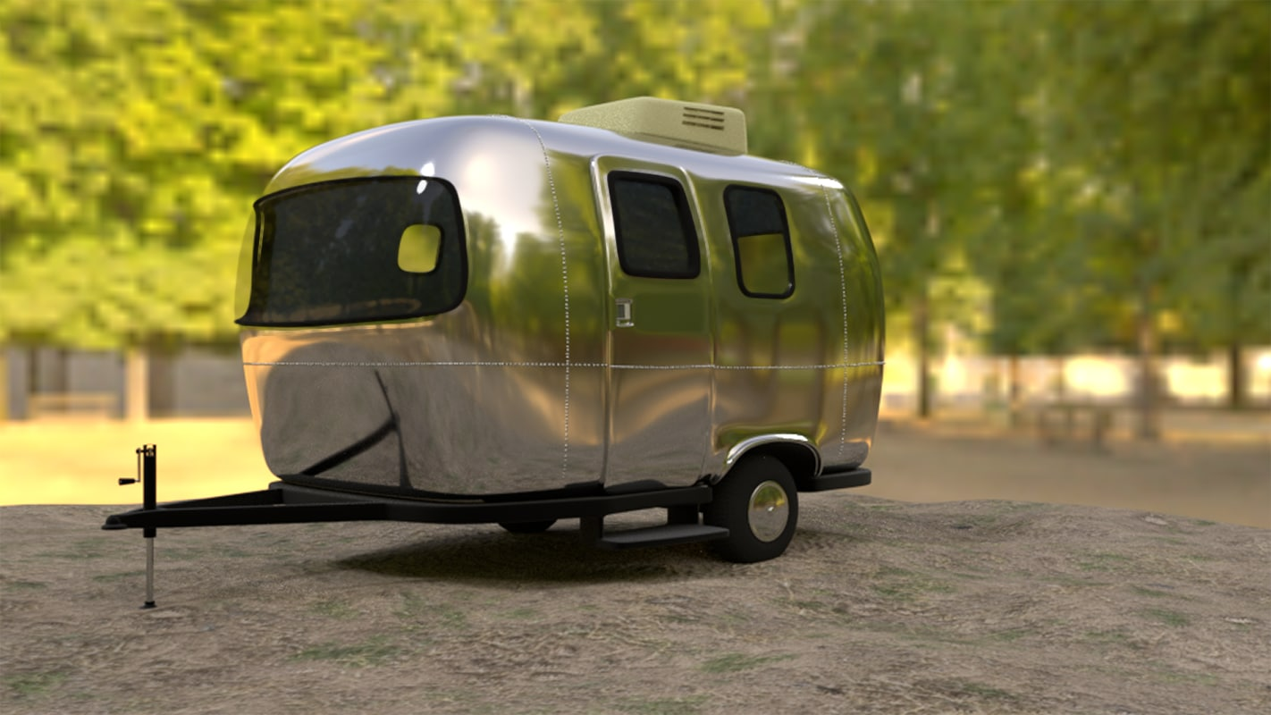 airstream 3d model