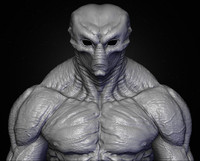 realistic aliens sculpt 3ds