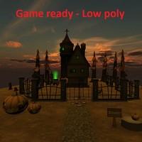 3d 3ds low-poly scenario