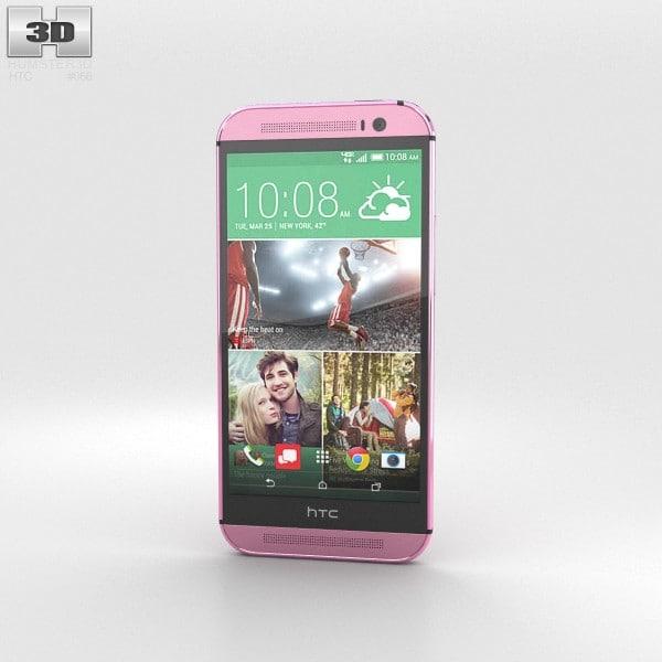 3d model m8 htc pink