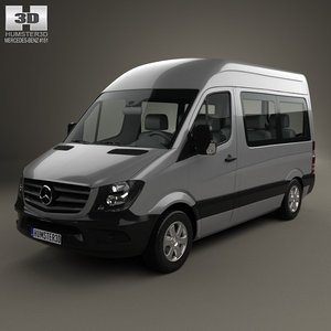 3d mercedes-benz sprinter passenger model