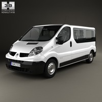renault trafic passenger 3d model