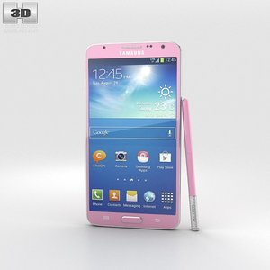 3d model of samsung galaxy note