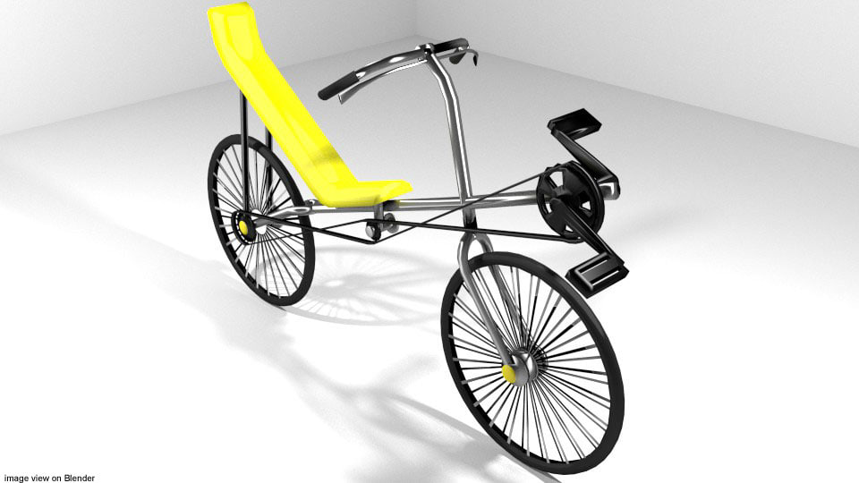 bicycle cycle recumbent 3ds