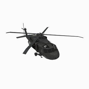 3d model blackhawk uh 60