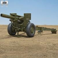m114 howitzer 155 3d 3ds