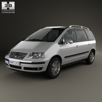 3d model volkswagen sharan 2004