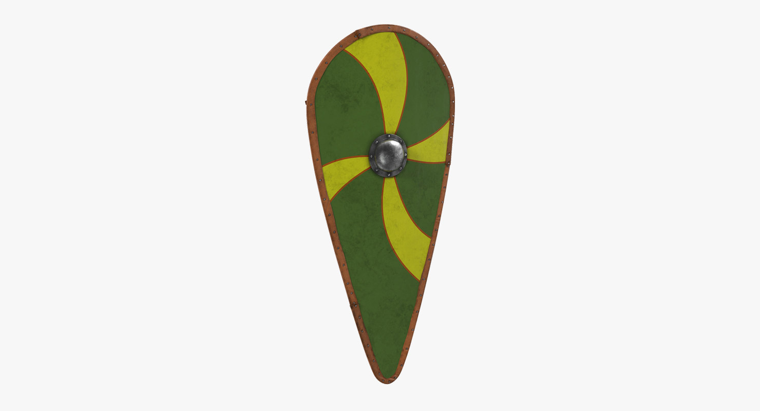 norman kite shield 3d model