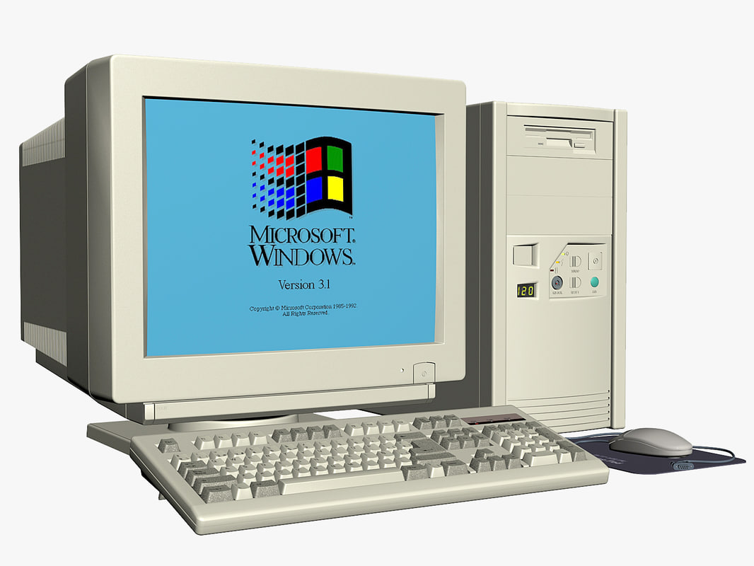 3d model vintage pc old personal