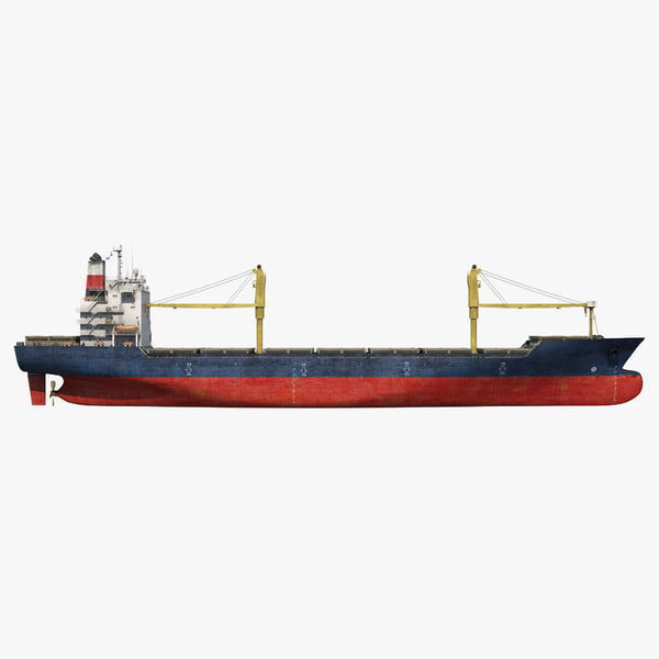sea cargo ship generic 3d model