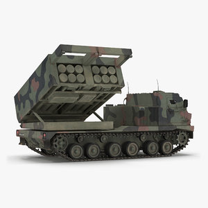 3d multiple rocket launcher m270 mlrs model