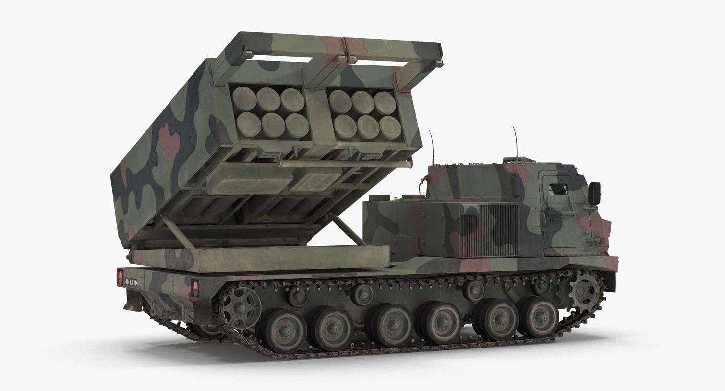 3d multiple rocket launcher m270 mlrs model