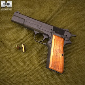 3d model browning hi power