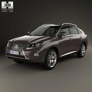 3d max lexus rx 2012