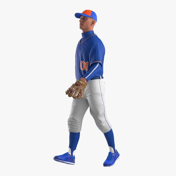 3d model baseball player rigged generic