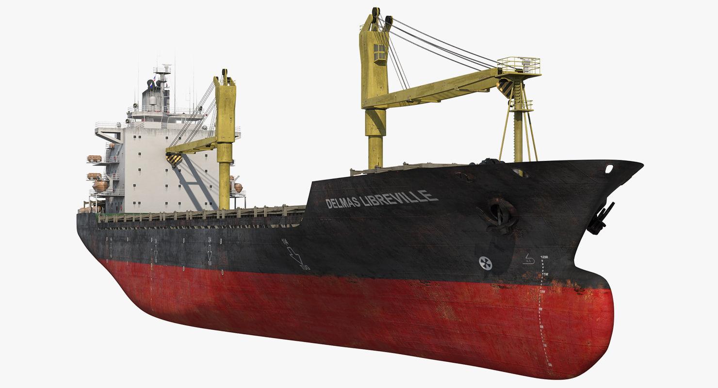 3d max cargo ship