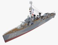 fletcher battleship 3d obj