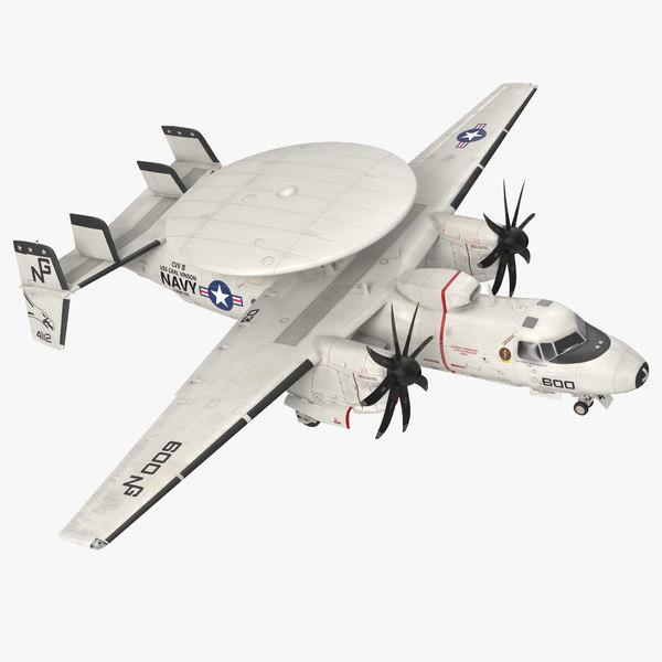 grumman e-2 hawkeye tactical 3d model
