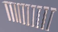 greek corinthian columns 3d 3ds