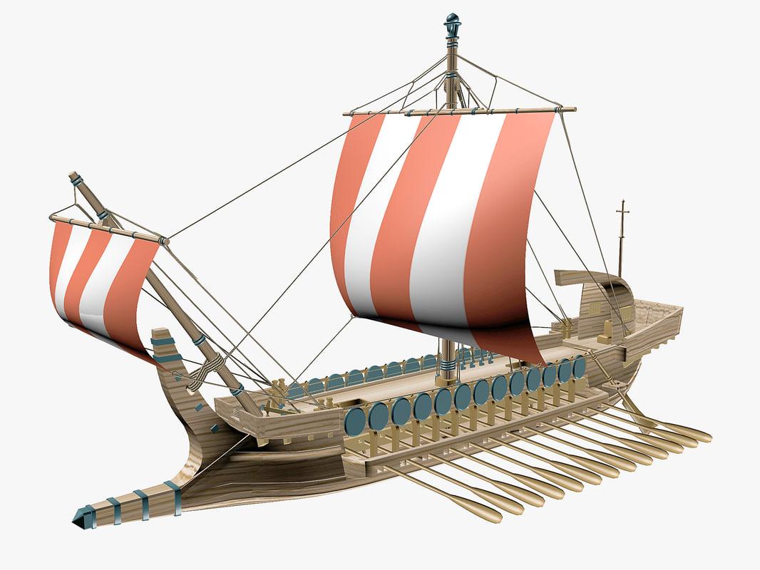 fbx greek ancient boat