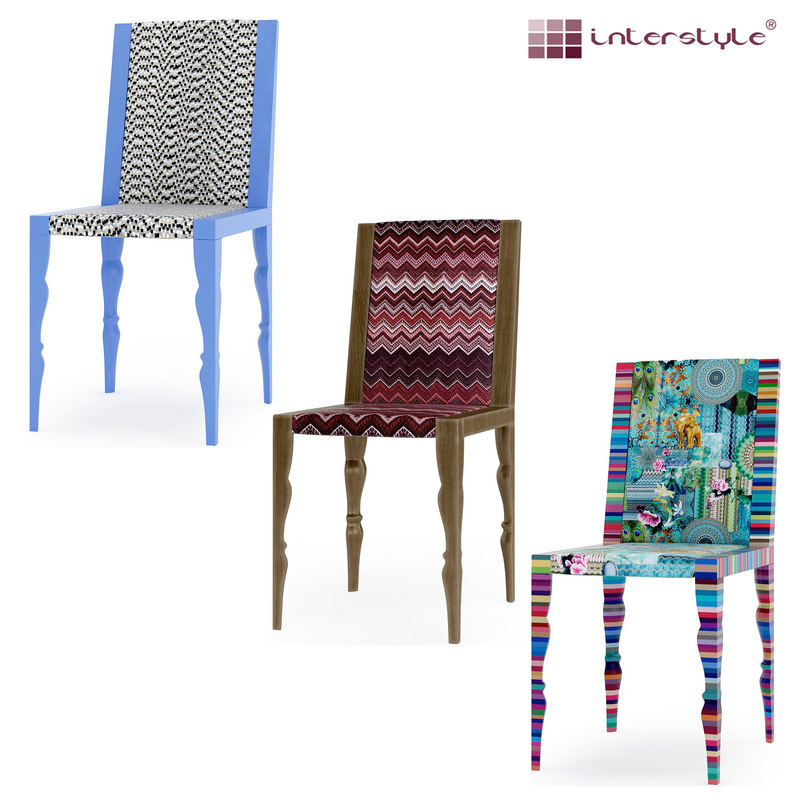 colorful chairs 3d model