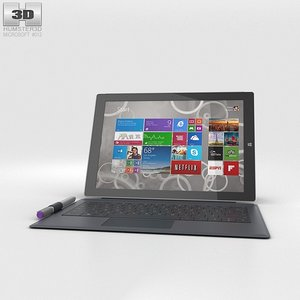 3ds microsoft surface 3
