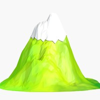 cartoon mountain 3d max