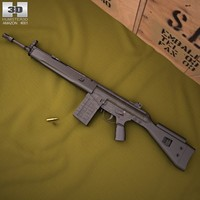 3d model heckler koch g3a3