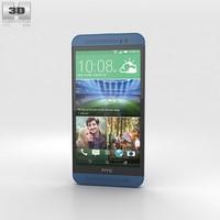 htc e8 blue 3d model