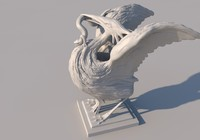 3d model sculpture ibis