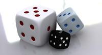 dice luck 3d model
