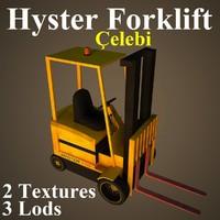 hyster cel fork 3d model