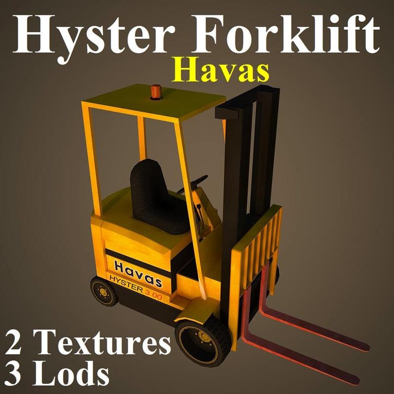 hyster hav fork 3d model